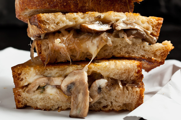 do-not-touch-my-food:  Grilled Cheese with Gruyère, Mushrooms, Shallots and Thyme