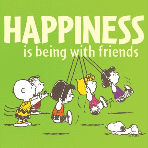 friendship quotes happiness is being friends snoopy and