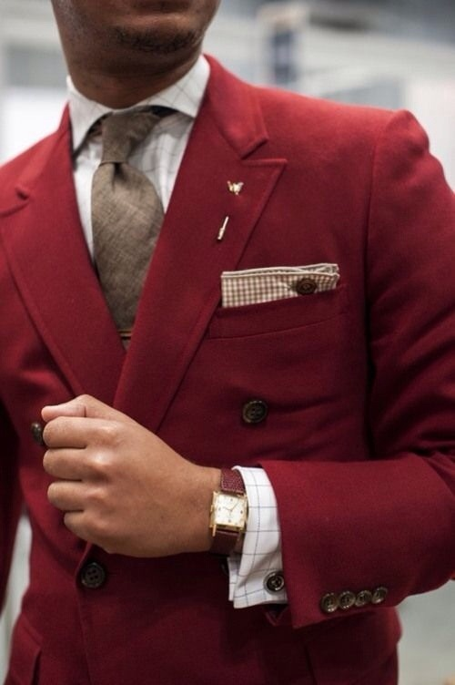 File under: Double breasted, Blazers, Color pop, Ties, Pocket squares</p> <p>||FACEBOOK||