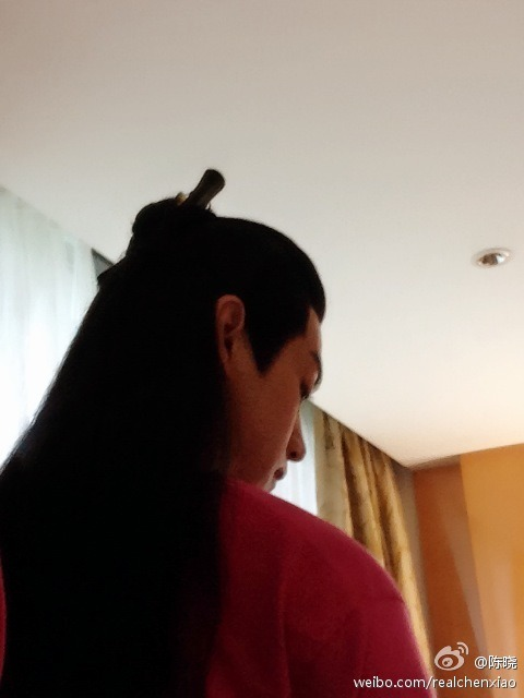 Chen Xiao's long hair from behind