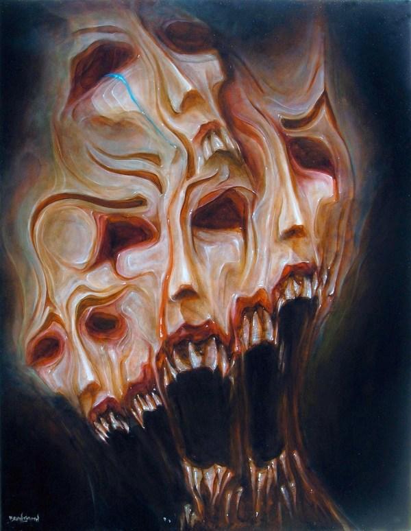 Creepy Abstract Art Painting