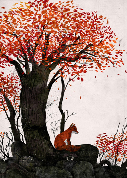 septagonstudios:</p> <p>Gelrev Ongbico<br /> Fantastic Mr. Fox Doesn't Feel So Fantastic</p> <p>What might he be pondering?<br /> Did he lose a friend?<br /> Is he sad because he's alone?<br /> Do you ever want to be inside<br /> an animal's head to hear his thoughts?<br /> Do you think they might be<br /> similar to our thoughts?<br /> They might be.<br /> All we know is that he isn't planning<br /> on revenge.<br /> Animals' thoughts are less calculating<br /> and purer than ours.<br /> So what are you thinking Mr. Fox?