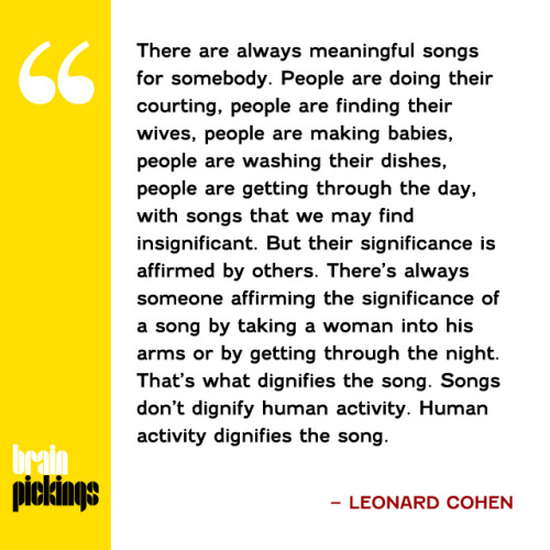 explore-blog:  A wonderful 1992 conversation with the great Leonard Cohen on creative process, hard work, and the dignity of song.