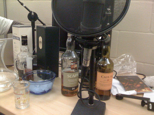 2 hours of drinking Scotch, caught in MP3