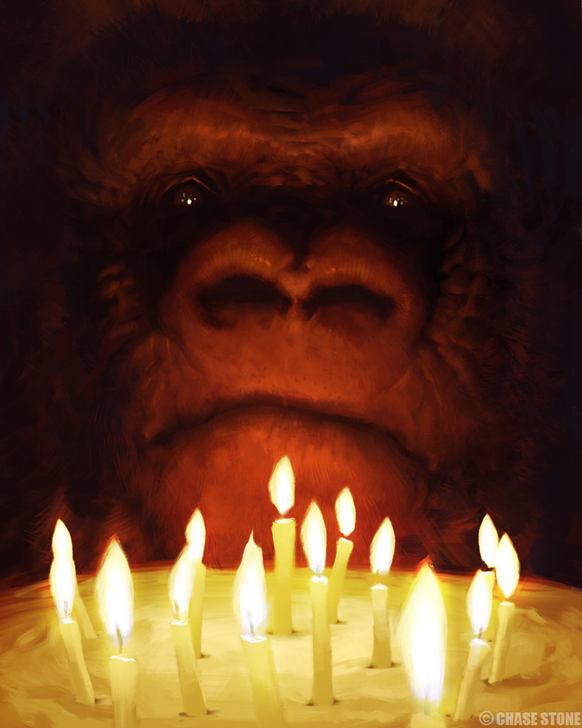 In honor of Koko the gorilla's 40th name day, an illustration.