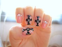 Chibi Nails, Argyle nail design. Pardon the messiness *cough*