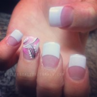 Alize's Nail Artistry - Abstract on acrylic French tip set ...