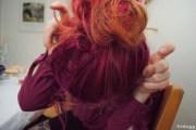 maroon hair