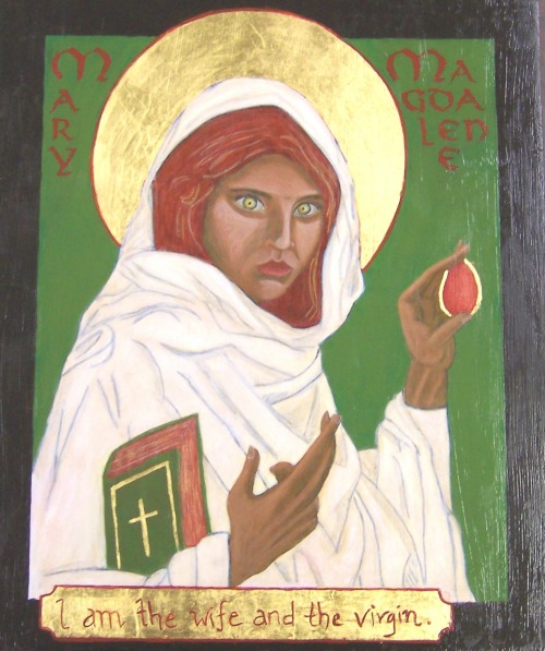 A Coptic Mary Magdalene by Sara Star/Spiritscraft. Based on a Prototype by Br. R. Lentz and a photograph by Steve McMurry.