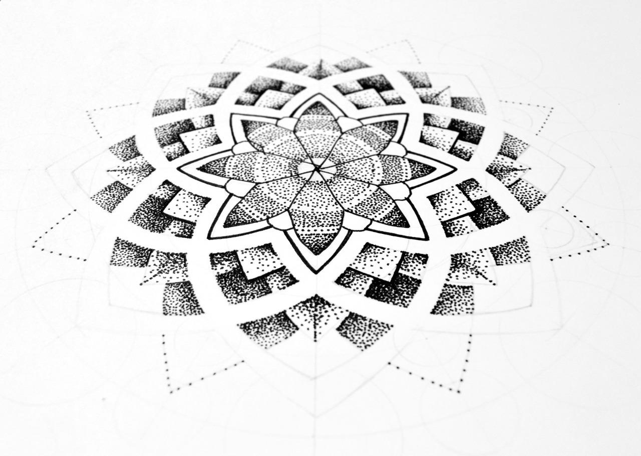 Tattoo by Manus / noumenius ink, Dotwork mandala by: Manus