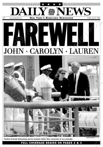 Daily News JFK, Jr. Headline