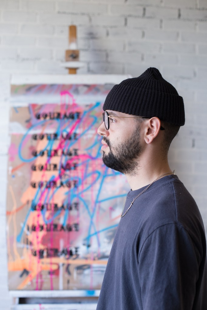 Northern Californian artist Andrew Cruz looks at his art