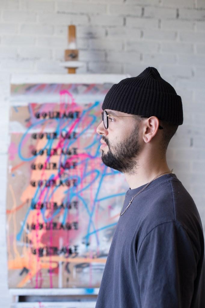 Northern Californian artist Andrew Cruz looks at his art