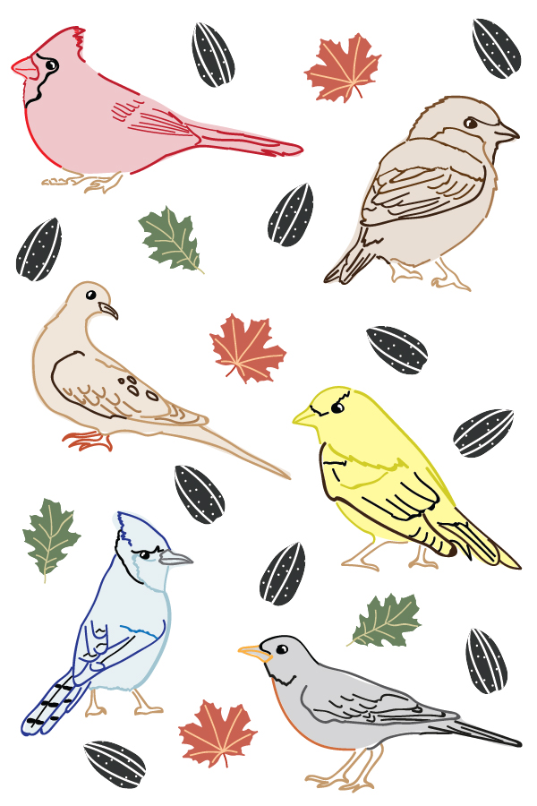 Wild Bird stickers by Emma May