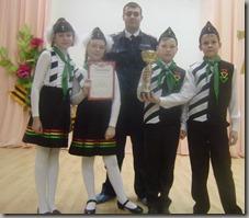 Мачкалян М.В. и победители - СОШ №9