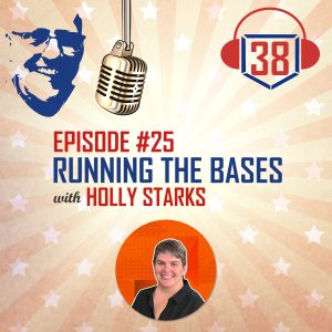 running the bases with Holly Starks