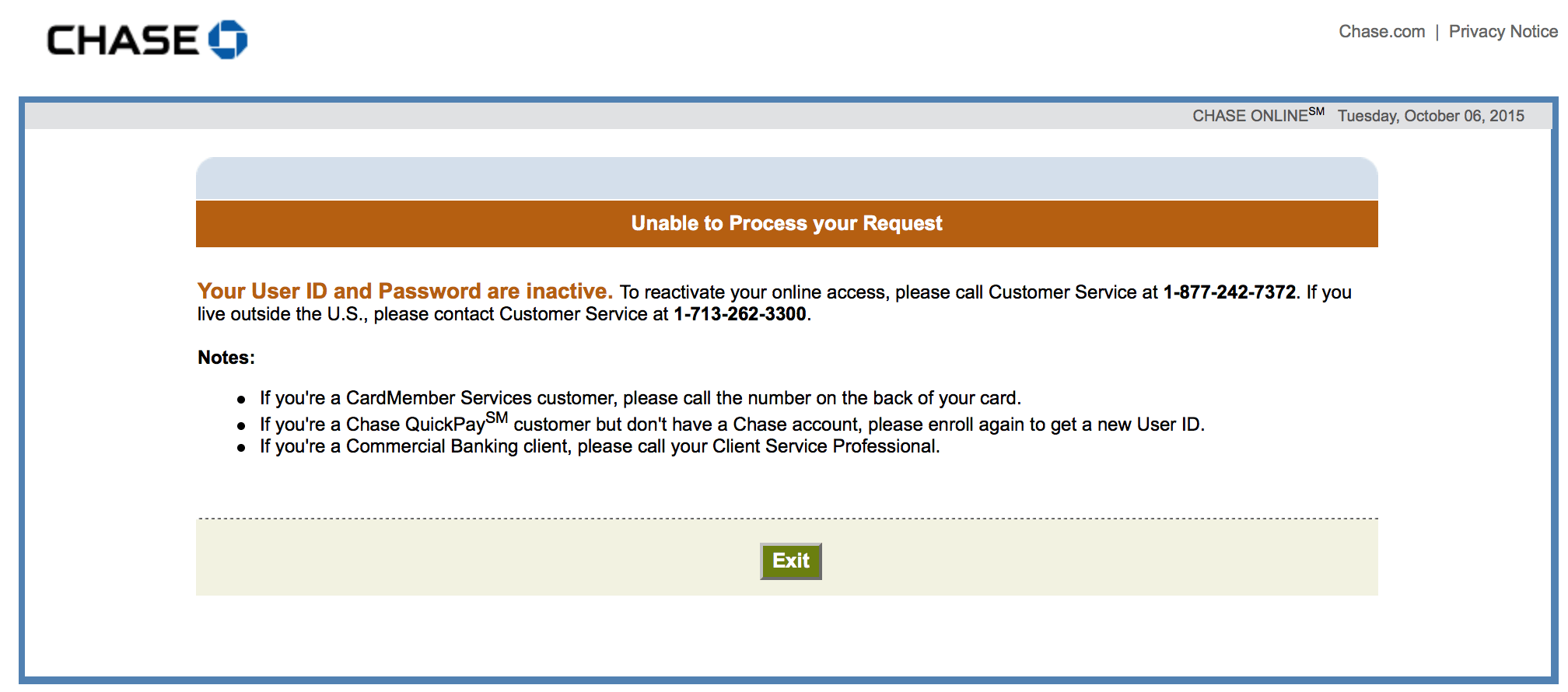 Anyone Else Locked Out Of Chase Online Account Points Miles Martinis