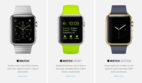Apple Watch Types