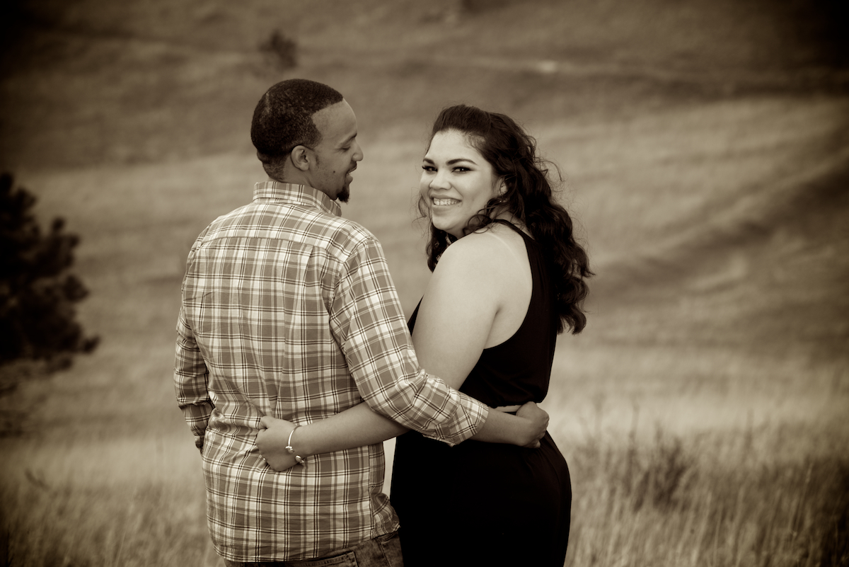 Mountain Engagement Session at Belcher Hill outside Golden CO  Colorado Wedding Photographers