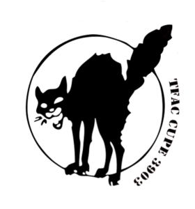 The TFAC logo, a graphic image of a black cat.