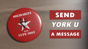 "A picture that says ""Send YorkU a message"""