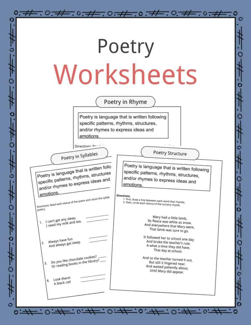 hight resolution of Poetry Worksheets