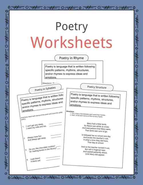 small resolution of Poetry Worksheets