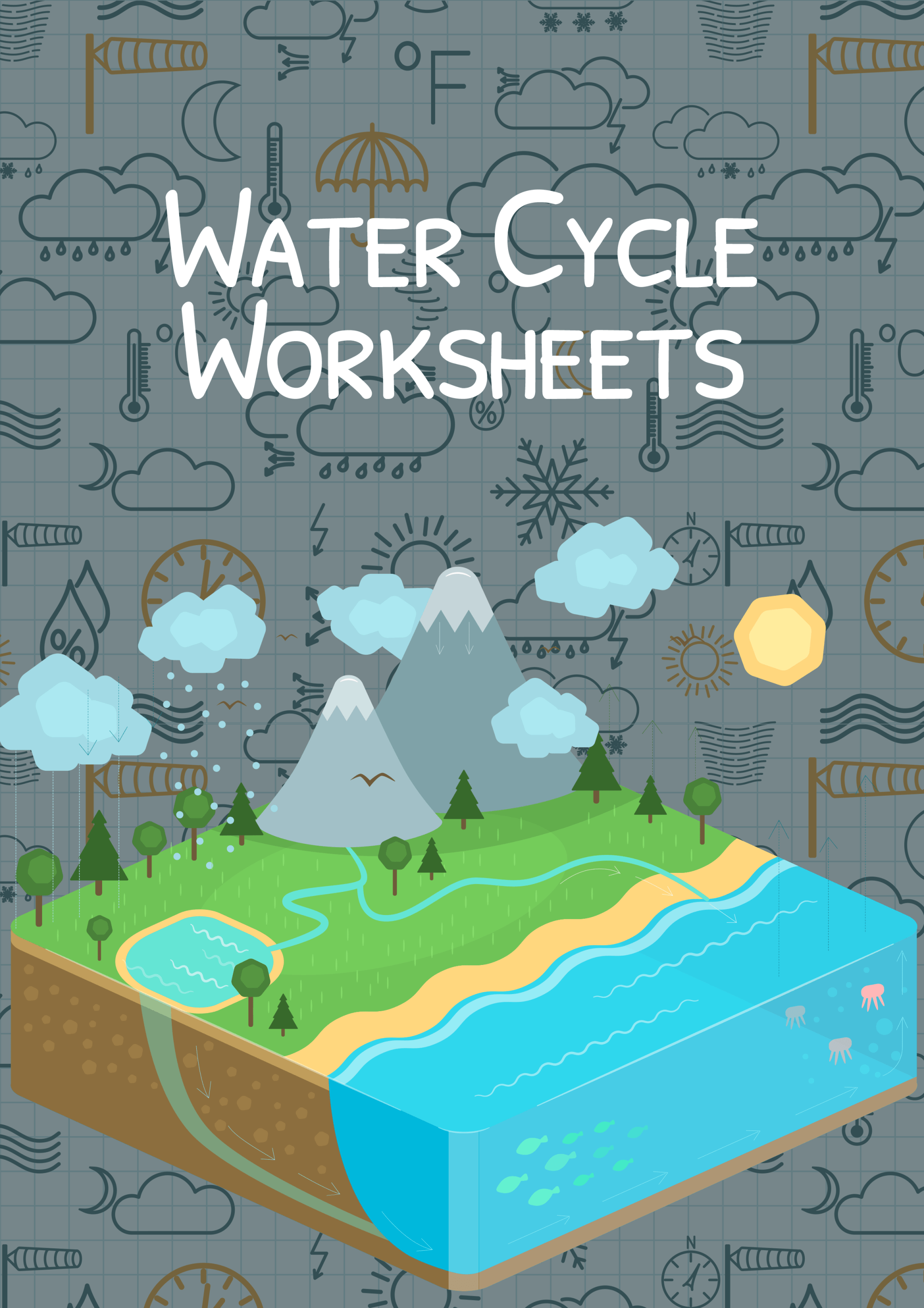 hight resolution of The Water Cycle Worksheet for Kids   Water Cycle Summary