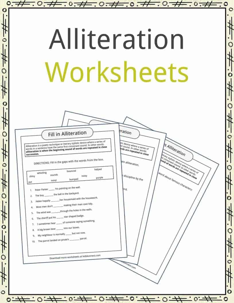 hight resolution of Alliteration Examples