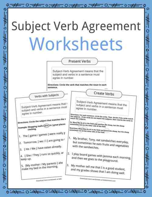 small resolution of Subject Verb Agreement Worksheets   KidsKonnect