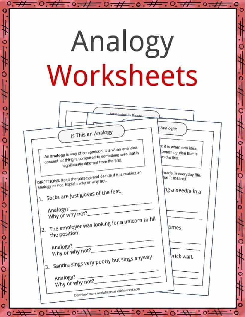 hight resolution of Analogy Examples