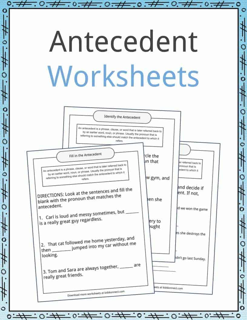 hight resolution of Antecedent Examples