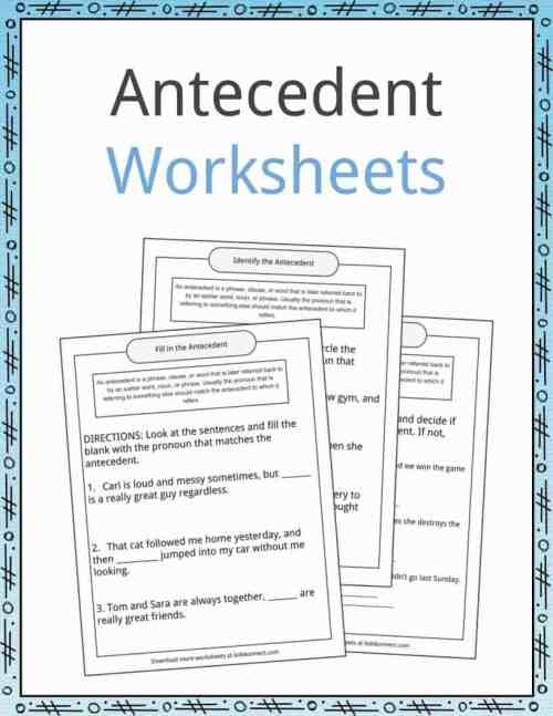 small resolution of Antecedent Examples