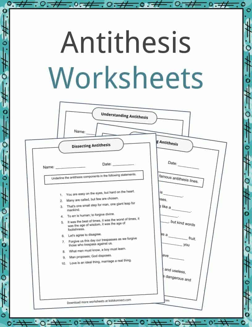 hight resolution of Antithesis Examples