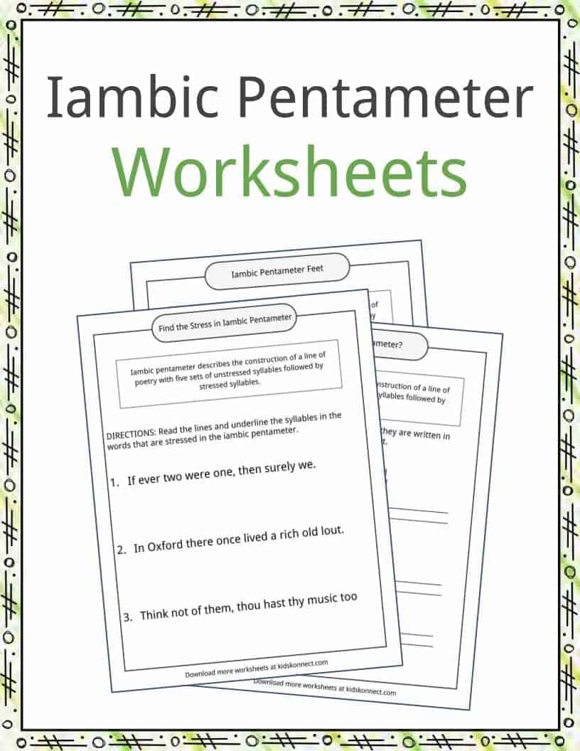 hight resolution of Iambic Pentameter Examples
