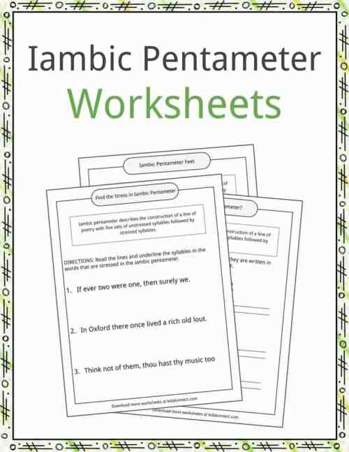 small resolution of Iambic Pentameter Examples