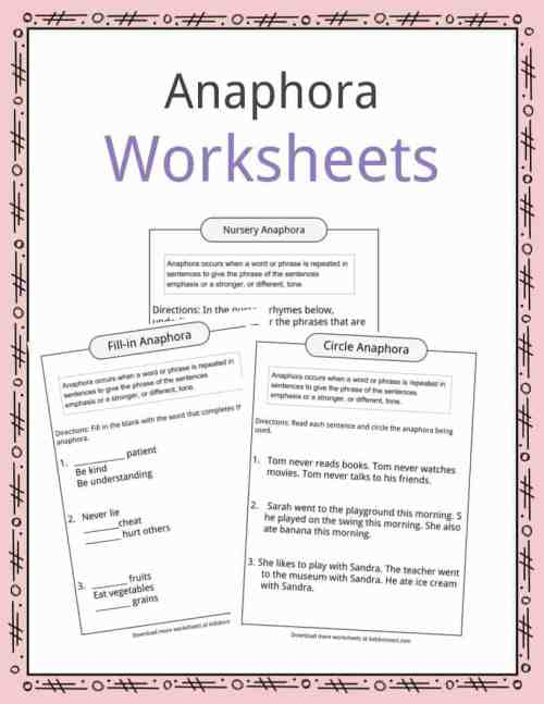 small resolution of Anaphora Examples