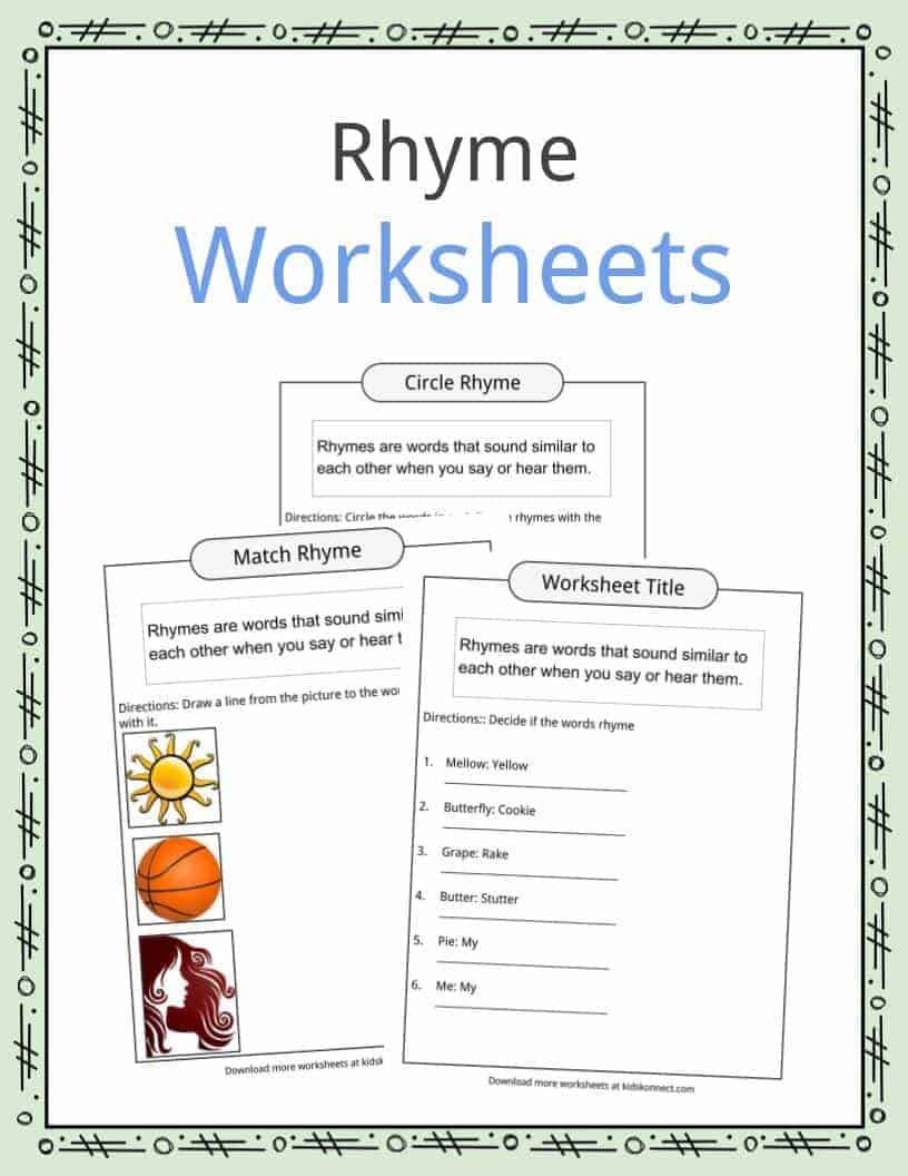 hight resolution of Rhyme Examples