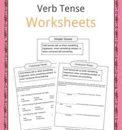 Verb Tense Worksheets [ 1056 x 816 Pixel ]