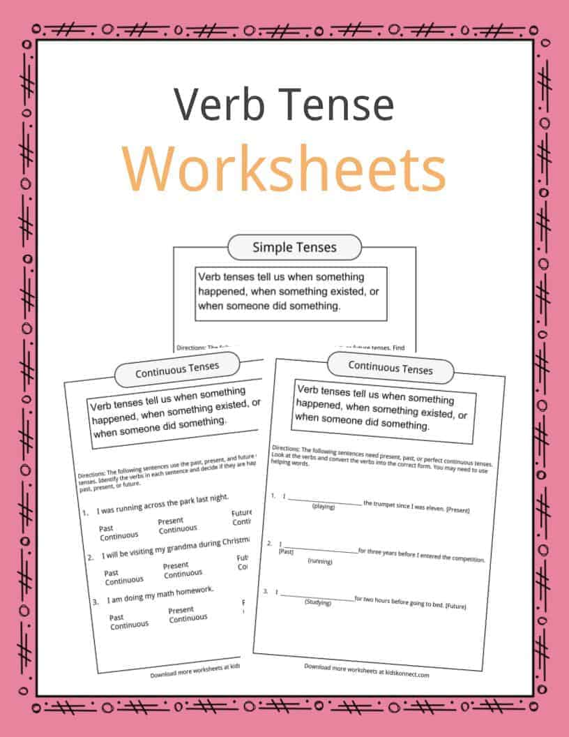 medium resolution of Verb Tense Worksheets