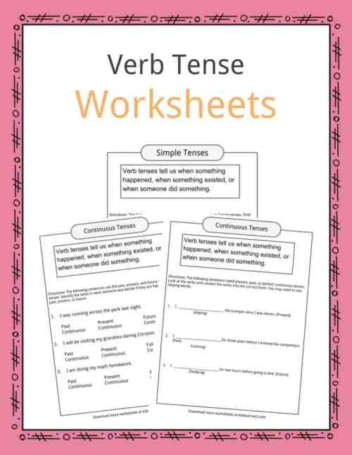 small resolution of Verb Tense Worksheets