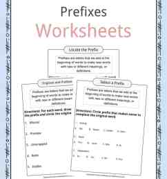 Prefixes Worksheets [ 1056 x 816 Pixel ]