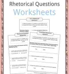 Rhetorical Question Worksheets [ 1056 x 816 Pixel ]