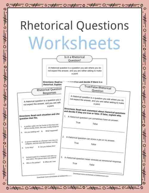 small resolution of Rhetorical Question Worksheets
