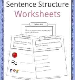 Sentence Structure Worksheets [ 1056 x 816 Pixel ]