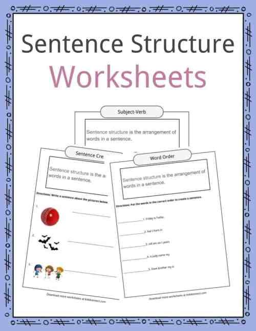 small resolution of Sentence Structure Worksheets