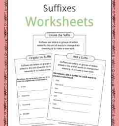 Suffixes Worksheets [ 1056 x 816 Pixel ]
