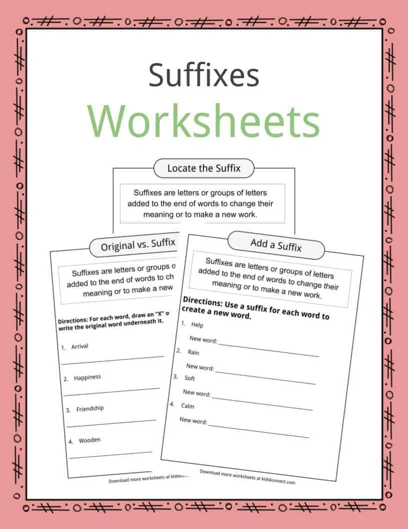 medium resolution of Suffixes Worksheets