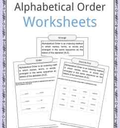 Alphabetical Order Worksheets [ 1056 x 816 Pixel ]