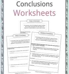 Conclusion Worksheets [ 1056 x 816 Pixel ]